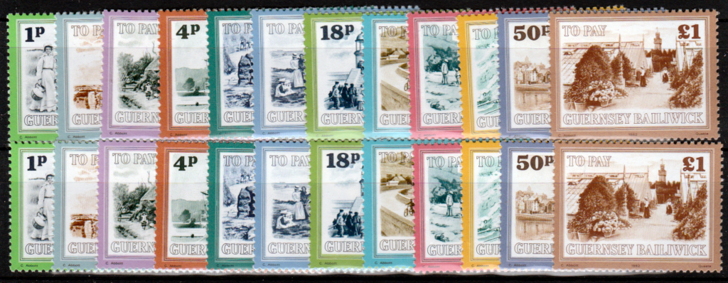 GUERNSEY-POSTAGE-DUE30-41